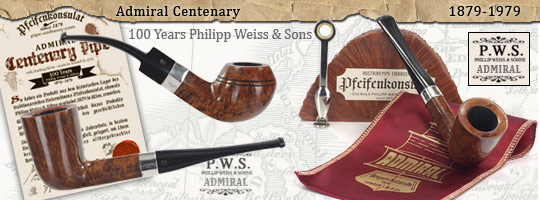 Admiral Centenary Pipe Sterling Silver oFi. - Vintage