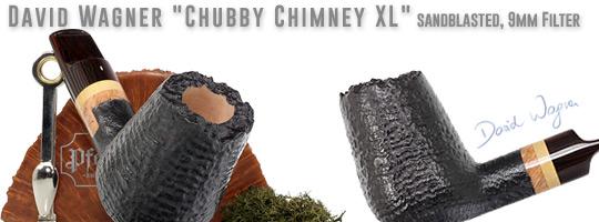 David Wagner Chubby Chimney XL, sandblasted, 9mm Filter