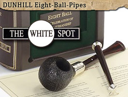Dunhill White Spot Eight Balls Pipes