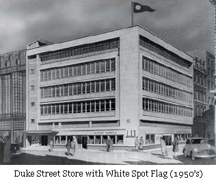 picture: Duke Street Store with White Spot Flag (1950�s)