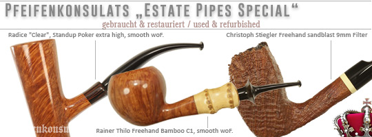 Estate Pipes - gebraucht & restauriert - used & refurbished