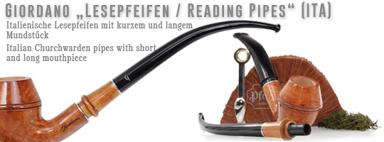 Giordano Reding Pipes / Lesepfeifen made in Italy
