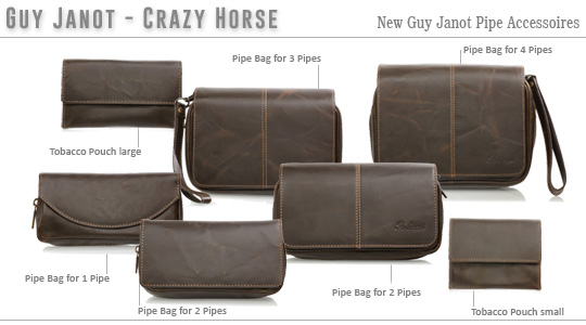 Guy Janot - Crazy Horse Pipe- and Tobacco Bags