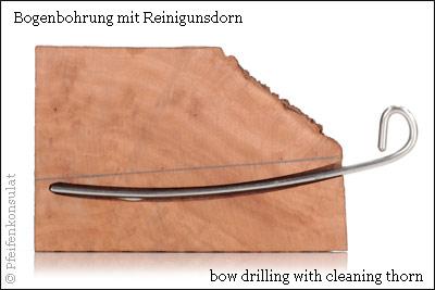 picture: Karl Harkam Bogenbohrung / bow drilling