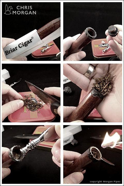 Anleitung in Bildern - The Briar Cigar by Chris Morgan