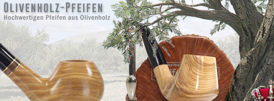 Olivenholz-Pfeifen - Olive Wood Pipes