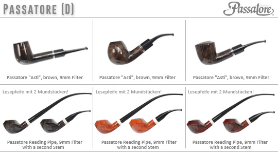 6 new Passatore Pipes