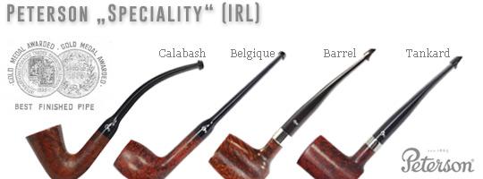 Peterson Speciality: Barrel, Belgique, Calabash, Tankard