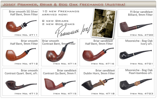 Josef Prammer briar pipes made in Austria