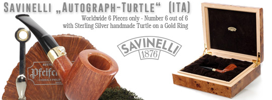 Savinelli Autograph Turtle Unique, 9mm Filter