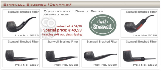 Stanwell Brushed - new single pieces arrived now
