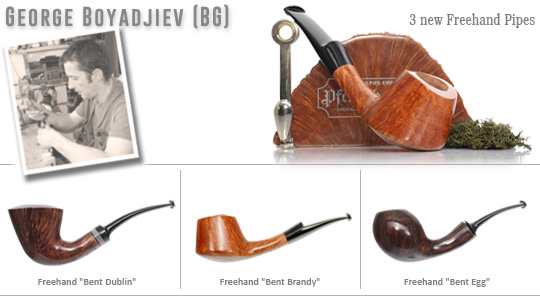 3 new George Boyadjiev Freehand Pipes