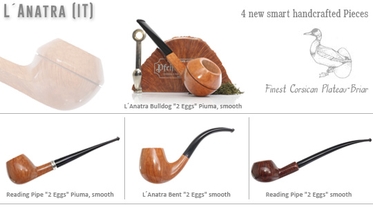 4 new handcrafted L'anatra Pipes
