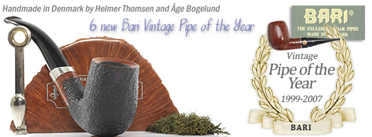 6 new Bari Vintage Pipe of the Year 1999-2007
