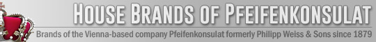 The brands of the Vienna-based company Pfeifenkonsulat formerly Philipp Weiss & Sons since 1879