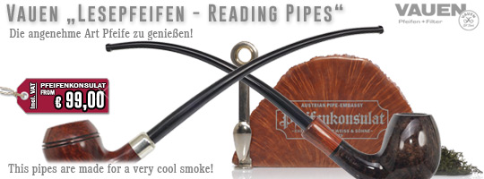 Vauen Lesepfeifen - Reading Pipes - Churchwarden Pipes