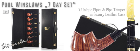 Poul Winslow 7 Day Set, 9mm Filter & PW tamper in leather case